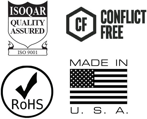 NHI is ISOQAR, RoHS, Made in the USA and Conflict Free